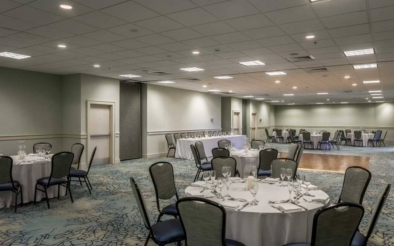 ballroom venue with graphic carpet
