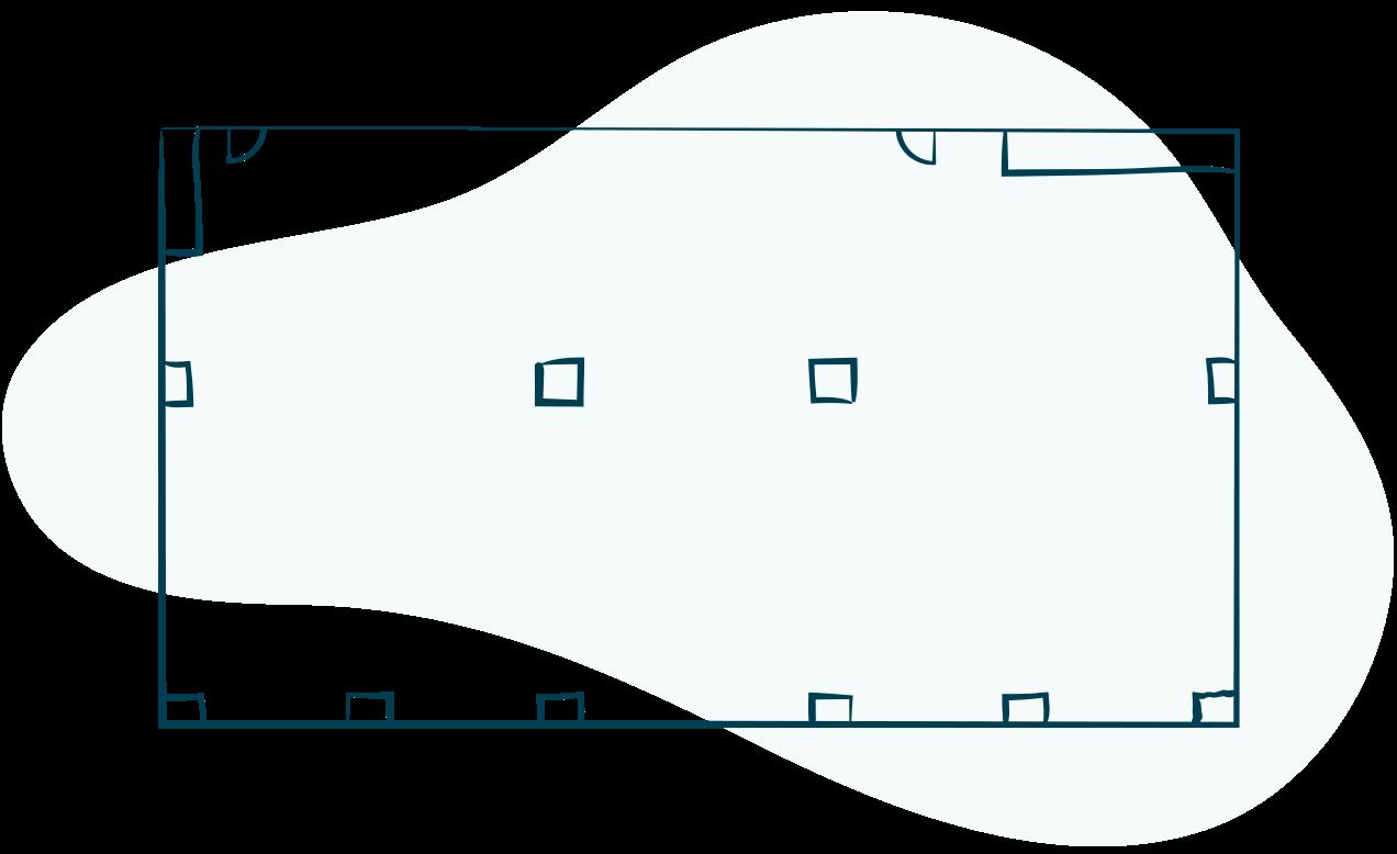illustration of BLU Bar floorplan